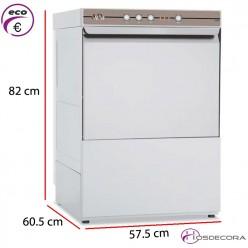 Lavavasos para bar 40x40- Altura útil 29.5 cm. 63-AMDH 3650