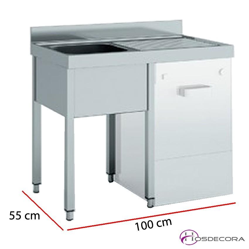 Fregadero para lavavajillas 100 o 140 x 55 cm -1 o 2 pozas