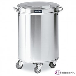 Contenedor de desperdicios 50 o 95 litros con tapa independiente y ruedas