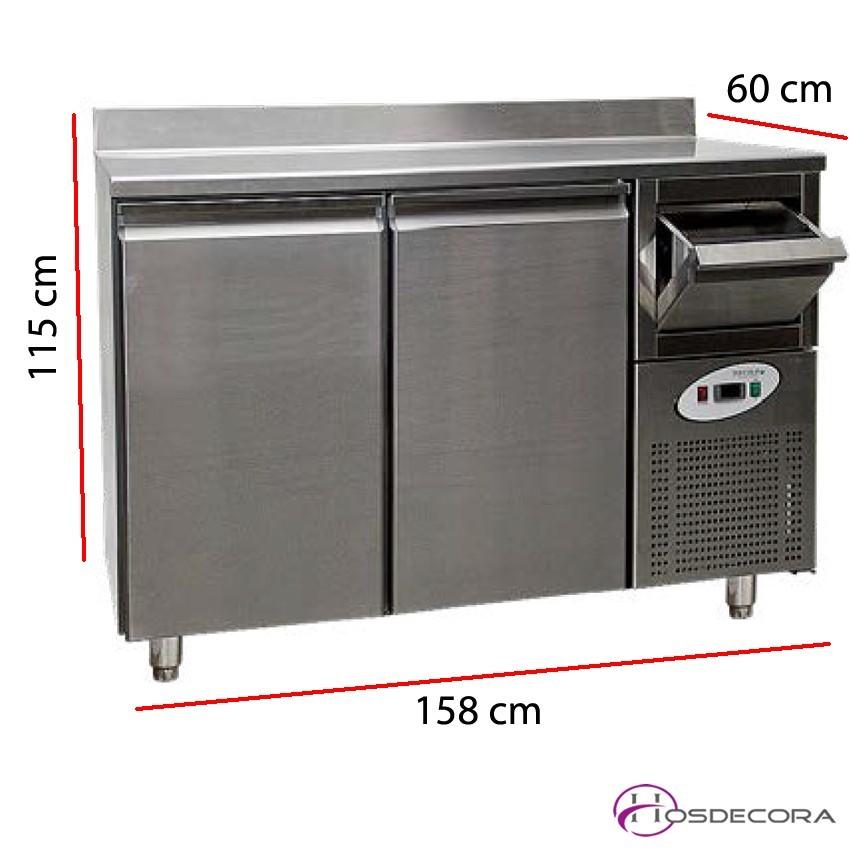 Frentemostrador refrigerado 2 a 4 puertas fondo 60