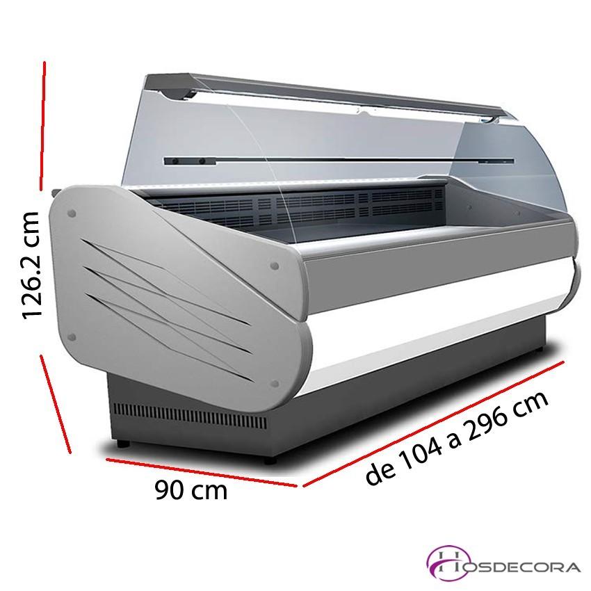 Vitrina Fría Curvo-Reserva-Fondo 90 cm - SALINA 80 VC
