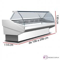 Vitrina Fría -Curvo-Fondo 114 cm - SALINA PLUS 100