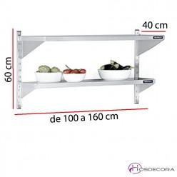 Estantería de pared para ingredientes fondo 40 cm