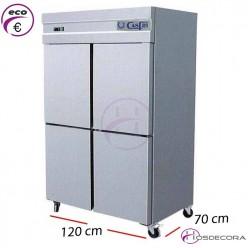 Armario de frío en inox con 2 puertas  575 L.