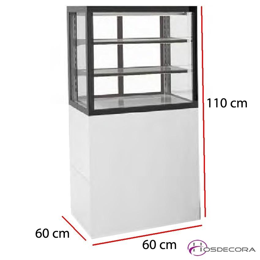 Vitrina expositora caliente Acceso trasera 2 estantes