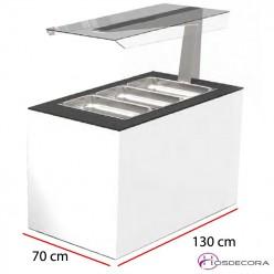 Mesas de Buffet con antiesputos 130x70 cm BUF65A