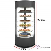 Expositor de pastelería 43.5x43.5 - 5 estantes