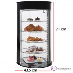 Expositor de pastelería neutro DOLCE 43.5x43.5 - 4 estantes