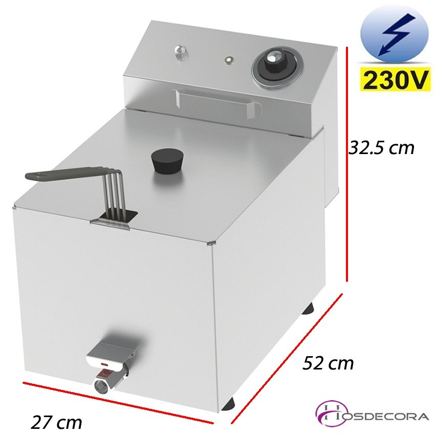 Freidora eléctrica de sobremesa 10 Litros - 5.5 Kw.