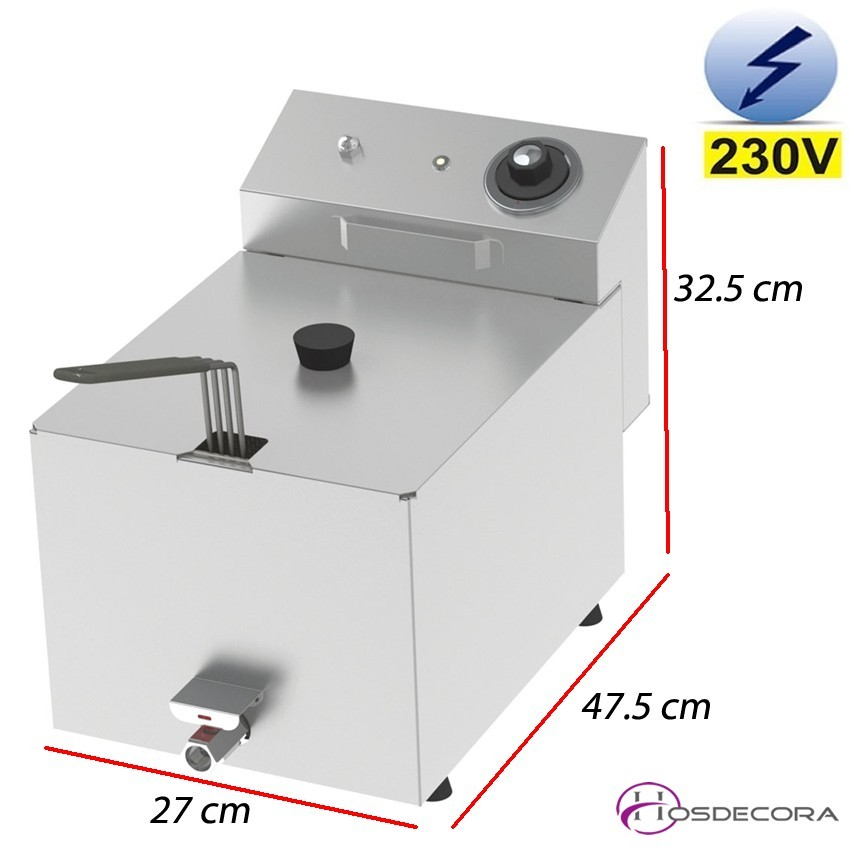 Freidora eléctrica de sobremesa 8 Litros - 3.8Kw.
