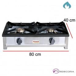 Cocina a gas con termopar 2 fuegos 5.2+3.6 Kw