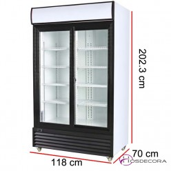 Armario refrigerado 800 Litros puerta corredera A24MC-C