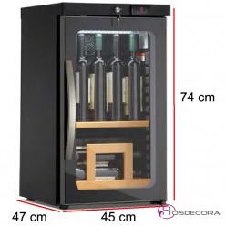 Vinacoteca 49 Litros 2 estantes 15 unidades