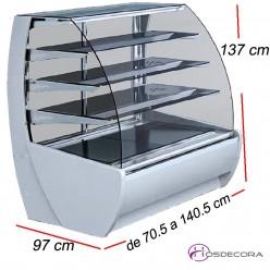 Vitrina fría cristal curvo