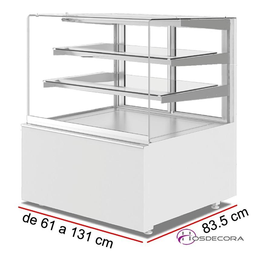 Vitrina fría pastelera con cristal recto 83.5 cm Fondo