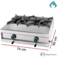 Cocina a gas 60 cm 2 Fogones 15 Kw