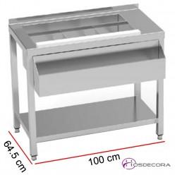 Mesa para preparación de combinados con estante