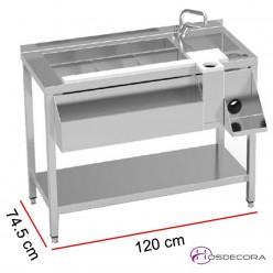 Mesa simple preparación de cóctel con estante