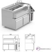 Mueble para cóctel simple con 2 cajones refrigerados