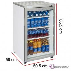 Armario expositor de frío con puerta cristal RC145