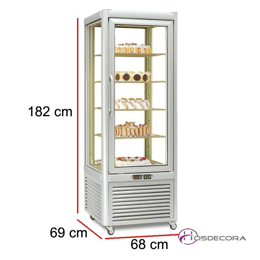 Vitrina de congelación expositora 5 estantes 400L