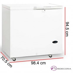 Congelador horizontal 230 Litros 180 W