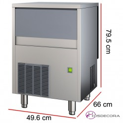 Fabricador de hielo 19 Kilos - 550 W - cubitos 41 gramos