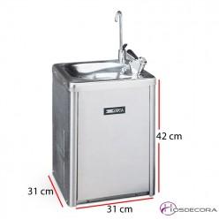 Fuente de agua de pie en acero inox Refrizer 2 P INOX