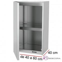 Armario colgante puertas batientes - Largo de 40 a 100 cm x 40 Fondo