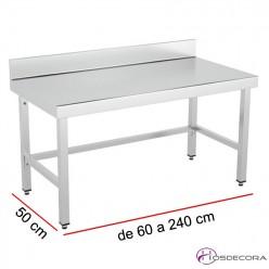 Mesa baja mural Fondo 50 - Ancho desde 60 a 240 cm