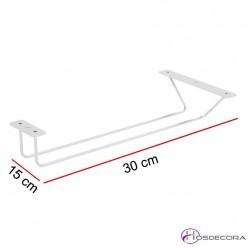 Cuelga copas de varilla 30x15 cm capacidad 3-4 copas