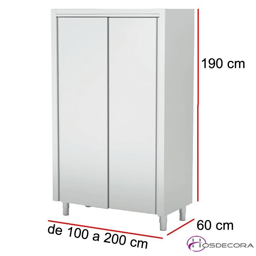 Armario de pie con puertas batientes Largo de 60 a 160 cm x 60 Fondo