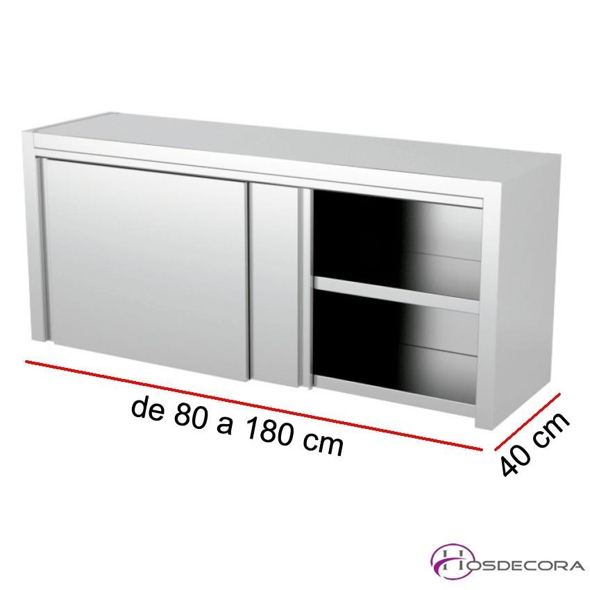Armario colgante puertas correderas - Largo de 80 a 180 cm x 40 Fondo