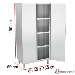 Armario de pie puertas batientes Largo de 60 a 160 cm x 60 Fondo