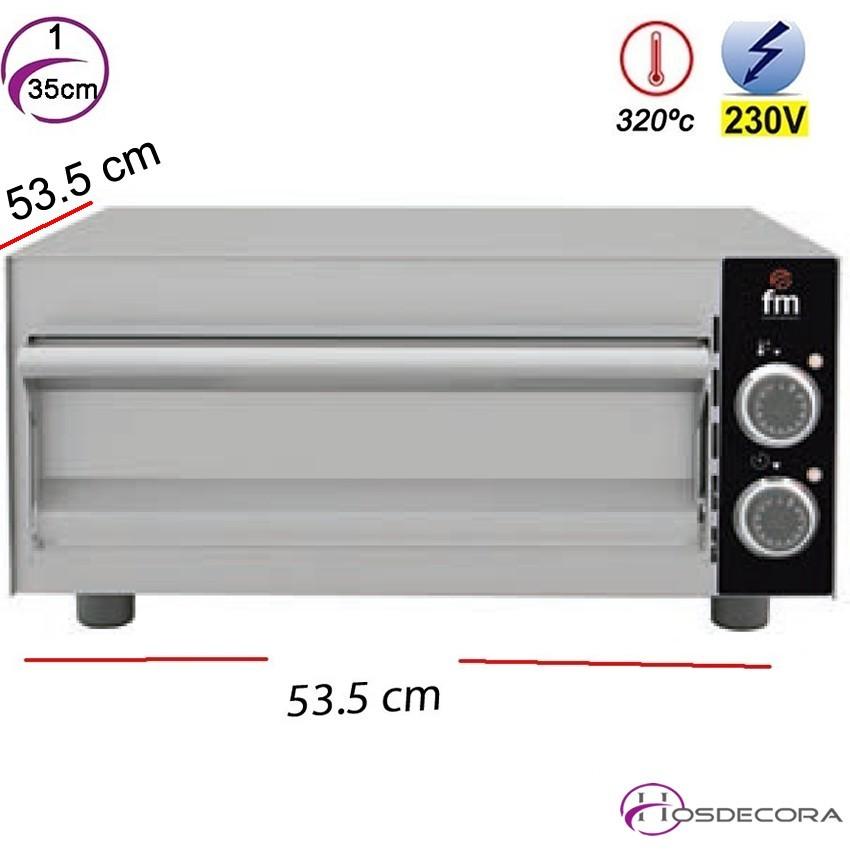 Horno de Pizzas Electrico 1- Ø 35 cm. 2000W - HP 133