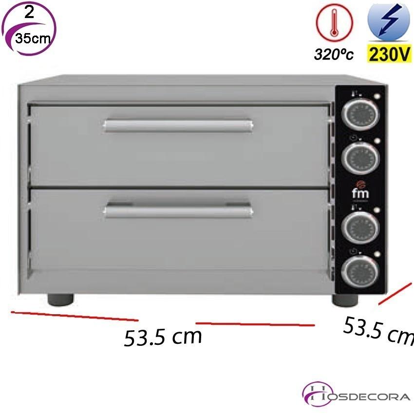 Horno de Pizzas Doble 2- Ø 35 cm. 3000W - HP 233