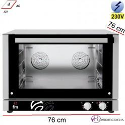 Horno panadero 4 bandejas 60x40 - 3800W-