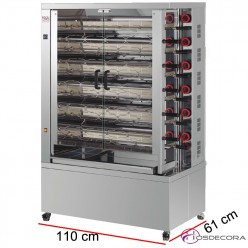 Asadero de Pollos ECO- Gas 11 espadas -66 Piezas.