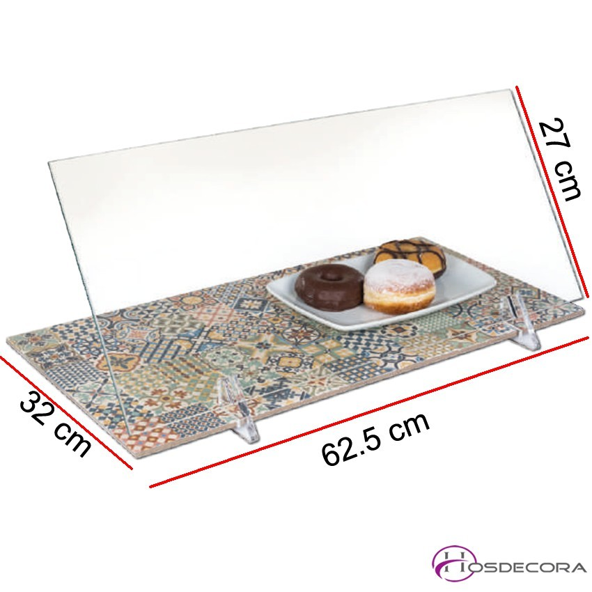 Vitrina neutra para tapas de cristal templado 2-3 platos