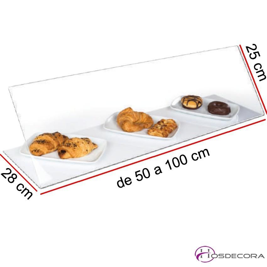 Vitrina neutra para bares en metacrilato de 50 a 100 cm largo