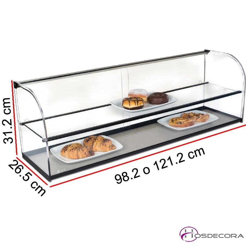 Vitrina neutra para tapas de cristal doble