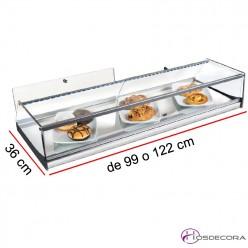 Vitrina neutra de cristal recto Largo de 99 a 122 cm