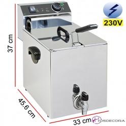 Freidora eléctrica con grifo 10 Litros 4500W