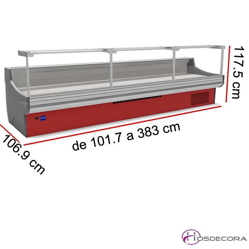 Vitrina charcutera Recto -  Reserva - Fondo 106.9 cm - Ventilada