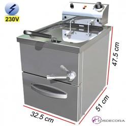 Freidora de Agua-Aceite Industrial 13.5L. 4 Kw. 107066