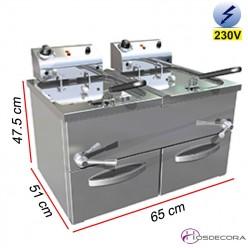 Freidora de Agua-Aceite Doble Industrial 27 L. 8 Kw. 107067