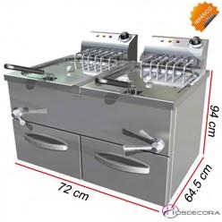 Freidora de Agua-Aceite Doble 27 Litros- 12 Kw. Trifásica-