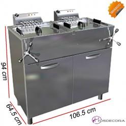 Freidora deoble de Agua-Aceite 23+23L. 15+15KW. Trifásica