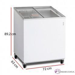 Congelador frigorífico tapa corredera 165 Litros 218 W
