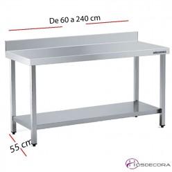 Mesa acero inox Mural Sin estante 60 x 50 cm